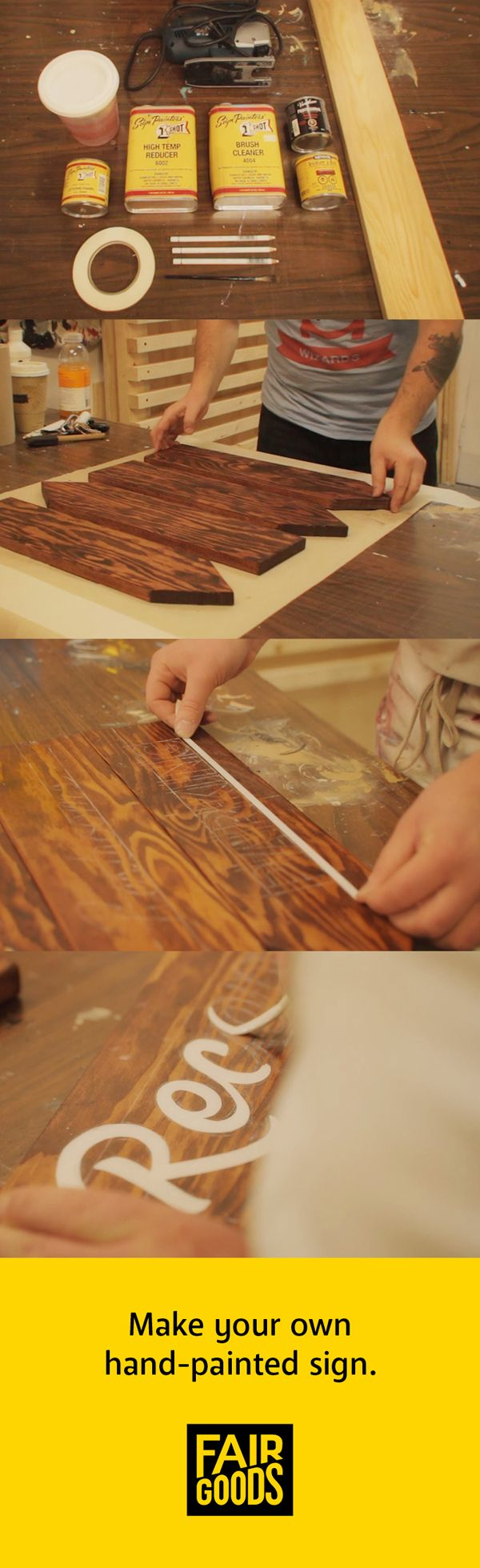 Watch our video tutorial on how to make your own hand-painted sign!