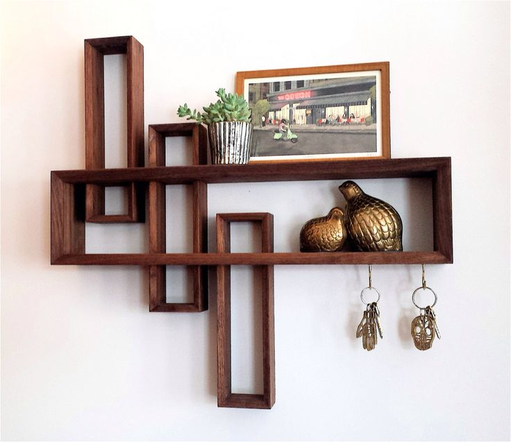 Entryway Organizer // Mid-century Modern // Handmade // Solid walnut by brassandbark on Etsy https://www.etsy.com/listing/177329879/entryway-organizer-mid-century-modern