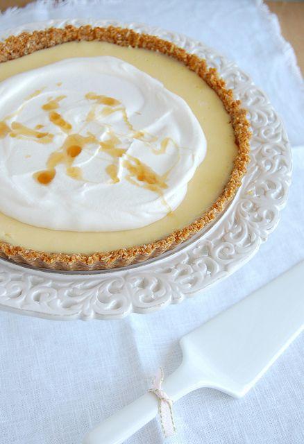Lemon & honey Anzac tart