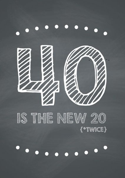 Funny DIY 40th Birthday Card! 40 is the NEW 20... TWICE! #funny #birthday #DIY #Printable