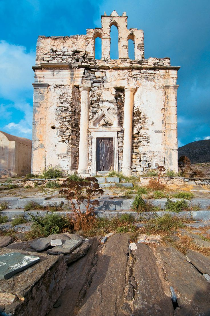 Nature and history together can create original beauty. Episkopi Temple, Sikinos http://www.cycladia.com/blog/tourism-insight/sikinos-your-backpacking-escape