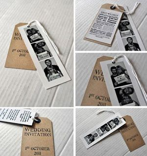 photo strip save the dates or invitations