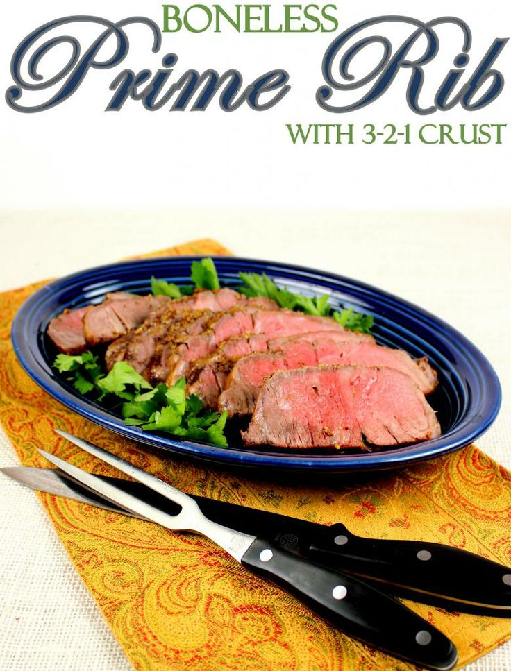 Boneless Prime Rib Roast with Spicy Dijon 3-2-1 Crust  Deliciously simple prime rib this size is perfect for a romantic dinner for two!