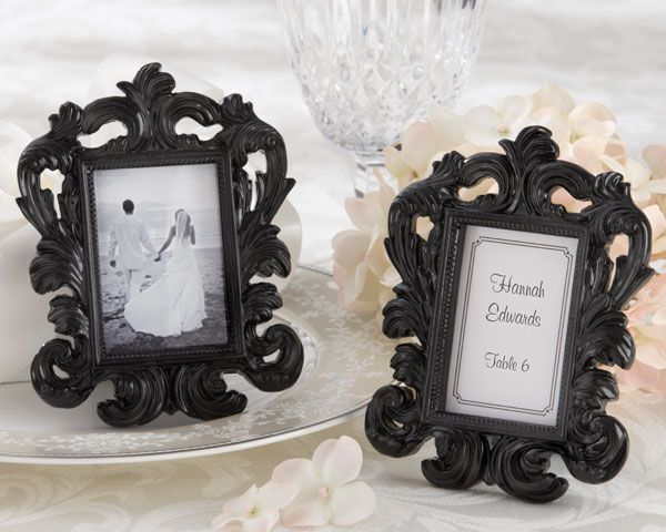 black baroque frame place card holdersset of 6 black resin frame was inspired by the century italian baroque style featuring a detailed