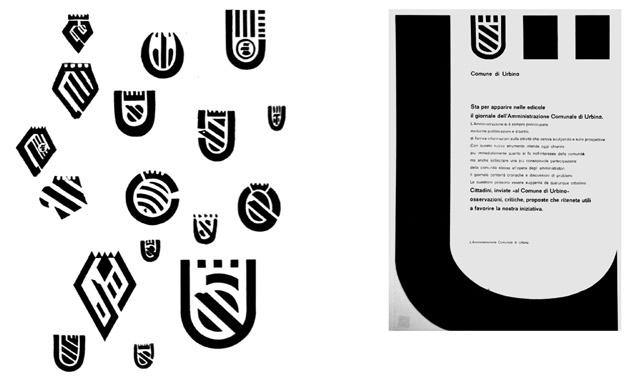 Manifesto di comunicazione alla cittadinanza di Urbino, progetto Albe Steiner, 1969