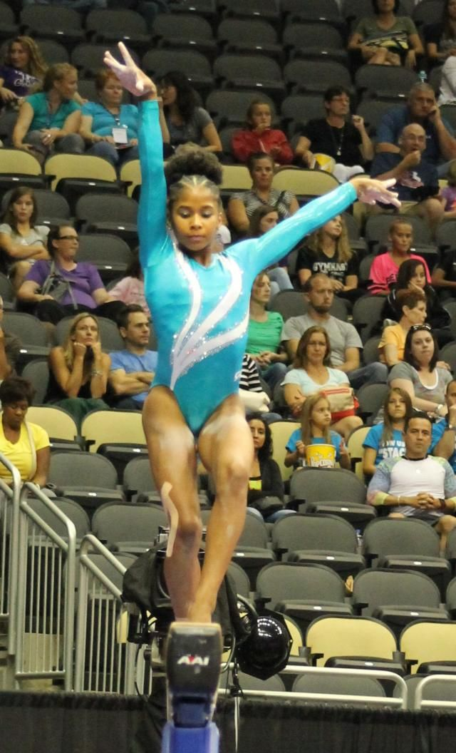 Jordan Chiles Stuns the Judges at the 2014 U.S. National Champions in GK Competitive Leotard    GK Elite