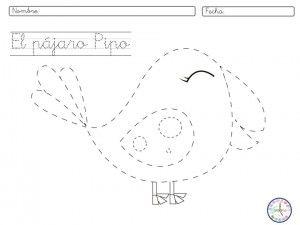 Ficha de #grafomotricidad #infantil