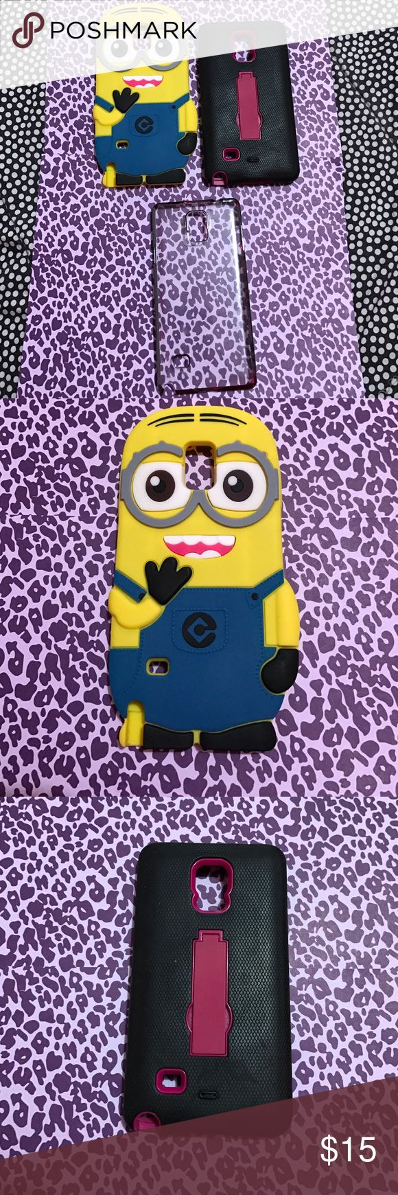 Samsung Note 4 cases (used) Used. Samsung Note 4 cases as is. 3 for $15 or $8 each minion Accessories Phone Cases