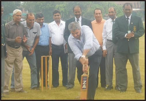 Mr. Zakir Khan Director Cricket Operation (Domestic) inaugurating the 3rd National Disabled Cricket Championship 2011 at LCCA Cricket Ground in Lahore on 8th September 2011.