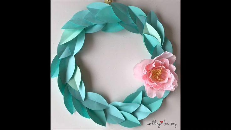 Te enseño a hacer una rosca craft con hojas de papel y una flor! Paper Flowers Craft, Flower Crafts, Paper Crafts, Diy Crafts, Diwali Decorations, Wreath Crafts, Easter Wreaths, Summer Wreath, Little Things
