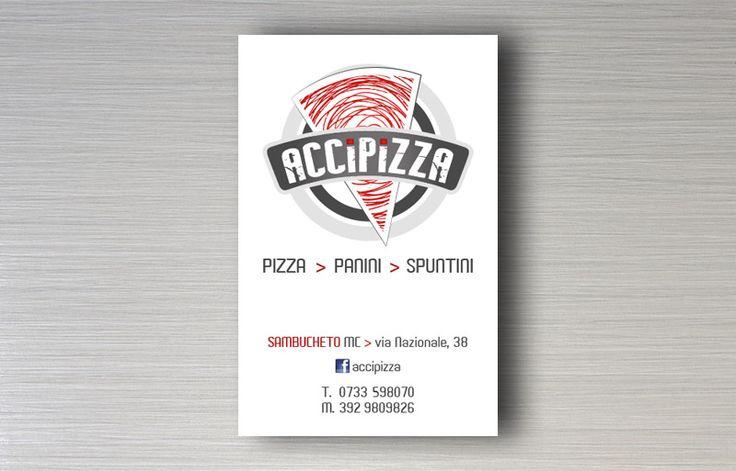 Accipizza - Logo design e immagine coordinata