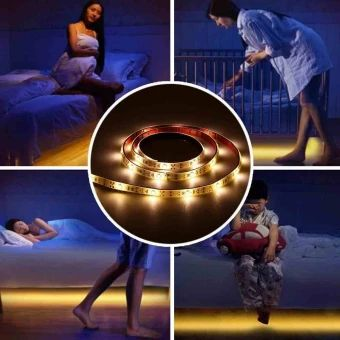 จัดส่งฟรี  Motion Activated Body IR Sensor Bed Night Light Flexible 3528SMDLED Strip - intl  ราคาเพียง  562 บาท  เท่านั้น คุณสมบัติ มีดังนี้ Condition: 100% Brand New and High Quality USB LED Strip Infrared Motion Sensor Night Light Wake-Up Lamps Hot Convenient And Durable For Home Kids Bedroom