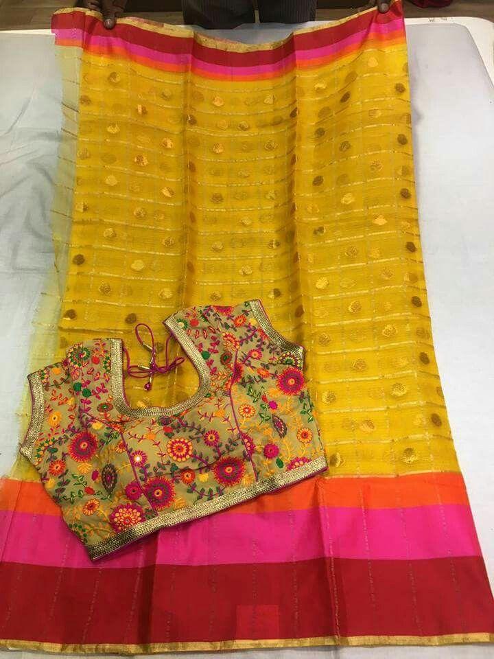 Silk kota sarees semistiched blouses  Order WhatsApp 7995736811