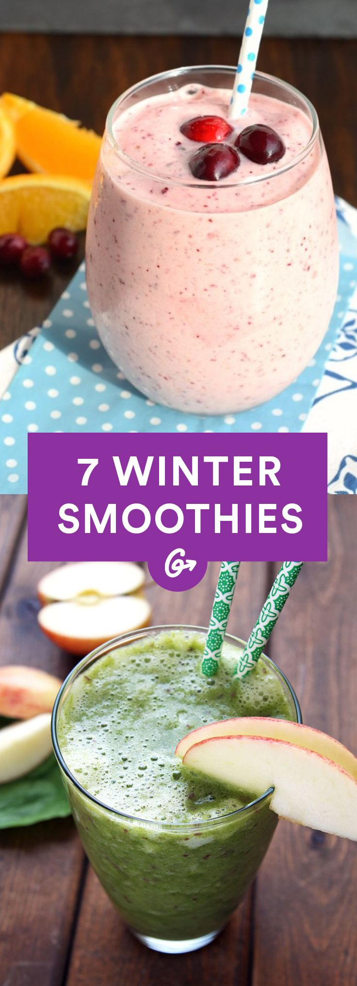 They all taste indulgent and have enough nutrients to balance out any cold-weather comfort foods. #winter #smoothie #recipes http://greatist.com/eat/winter-smoothie-recipes