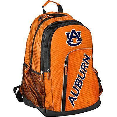Forever Collectibles NCAA Elite Backpacks Laptop Backpack (Auburn) TRAVEL SET