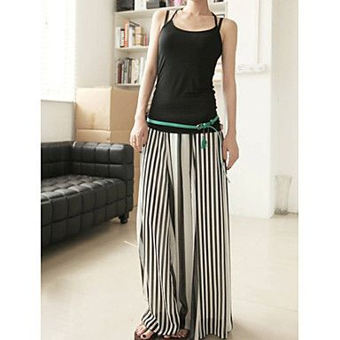 Women's+Black-white+Stripes+Maxi+Skirts+–+USD+$+20.99