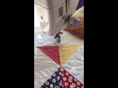 Quilting a máquina, a mano alzada