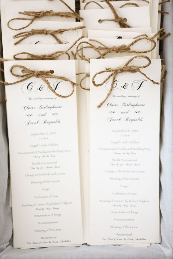 programs (found on style me pretty) or you can make this as a style for table menu idea #1