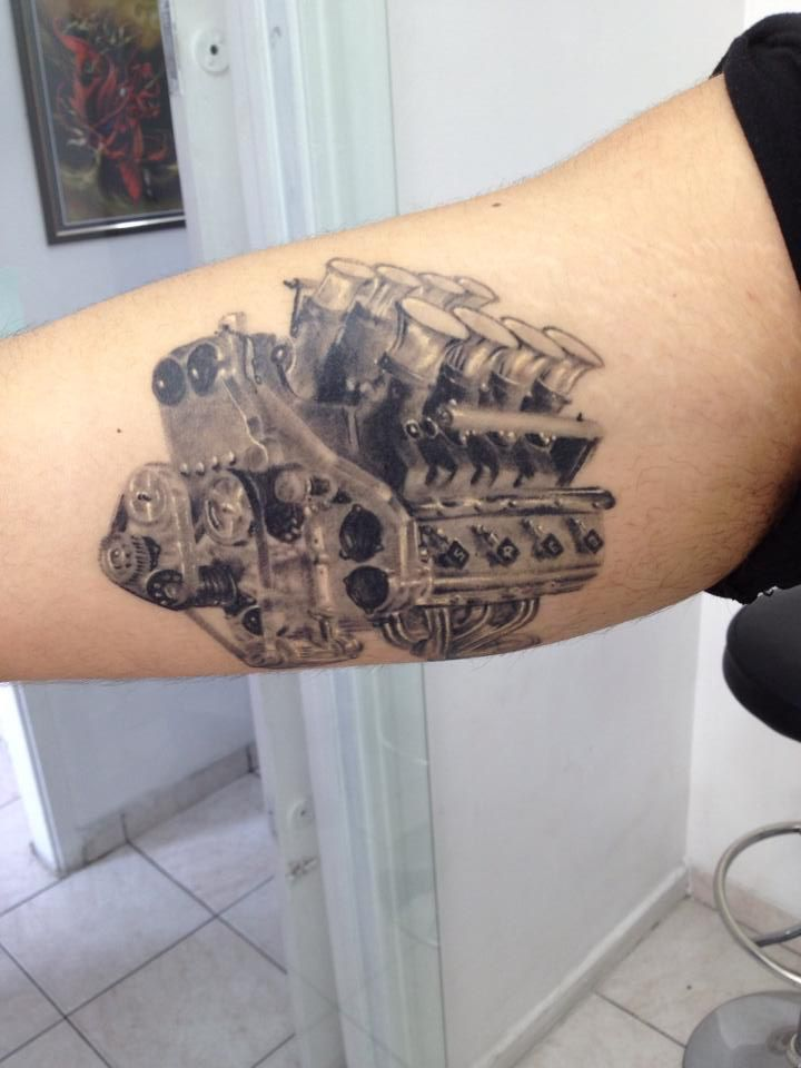 V8 Piston Tattoo Realistic tattoo (Niss...