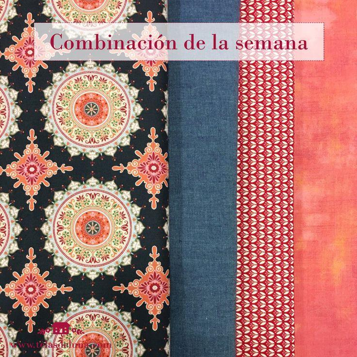 Combinación de telas: cómo combinar colores y telas para realizar trabajos de Patchwork o manualidades con telas. Telas de Luna está en Calle Miguel de Cervantes, 4 50006 Zaragoza 976 22 91 30 y en http://www.telasdeluna.com