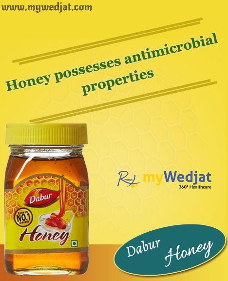 Honey possesses antimicrobial properties
