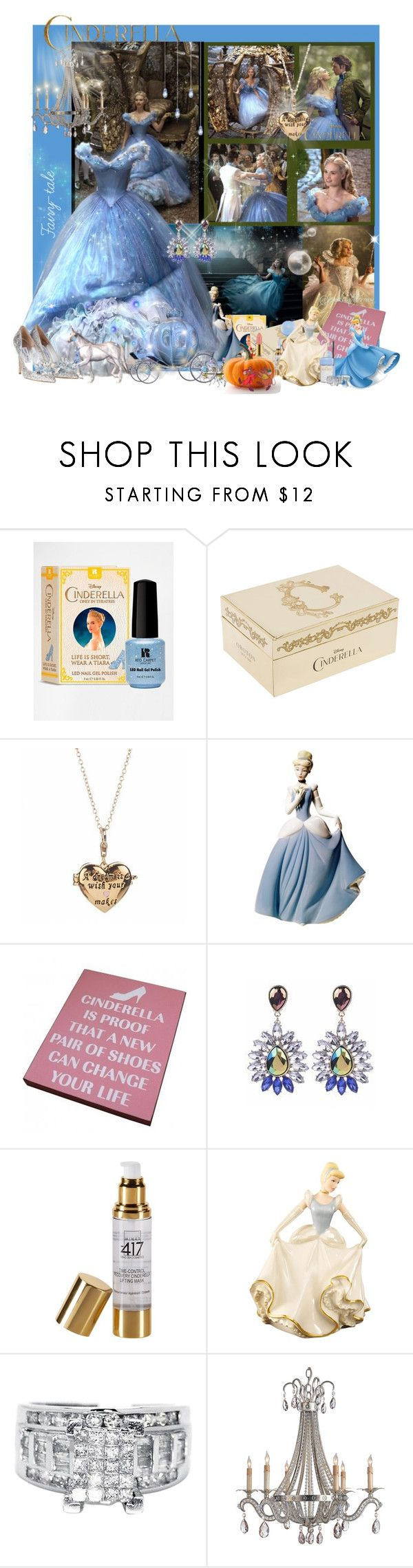 """Cinderella a Fairy-tale!"" by jewelsinthecrown ❤ liked on Polyvore featuring Disney, Red Carpet Manicure, Oroton, Disney Couture, Nao, Minus 417, Lenox and M.A.C"