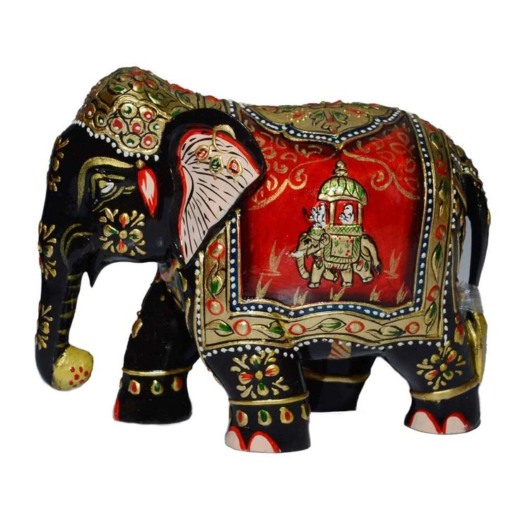 The elephant is a symbol of strength, power, stability and wisdom. Elephant statues are retain by millions worldwide as a general good luck symbol. Mesmerizing wooden elephant statue is exquisitely detailed with beautiful painting with vibrant colours and intricate designs. This exotic masterpiece beautifully carved from wooden is all set to stylize your home uniquely. Click here to buy this product - www.kalakhoj.com