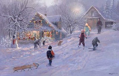 "Newfoundland Art - Lloyd Pretty ""Christmas Time"""