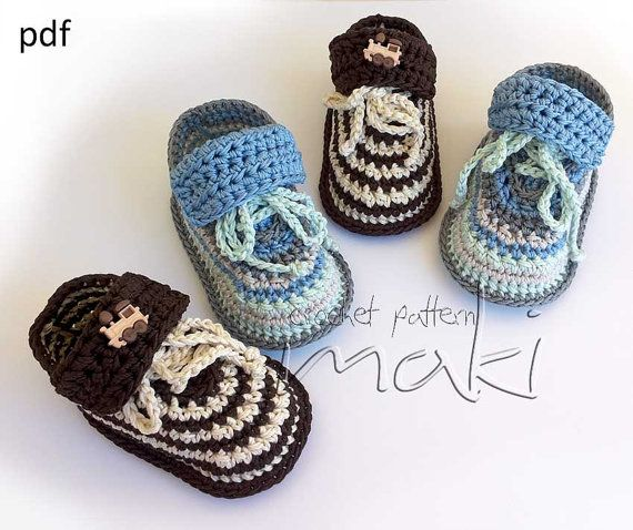 Super cute baby sneakers For boys and girls  by MakiCrochet, $3.00