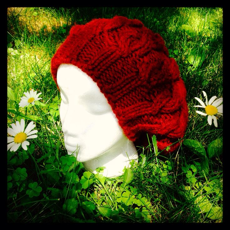 Knit slouchy hat, completed on the summer solstice :)
