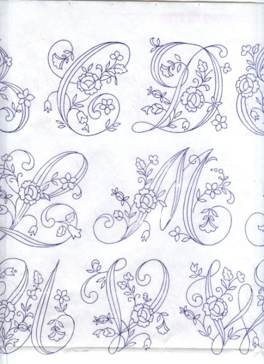 hand embroidery monogram