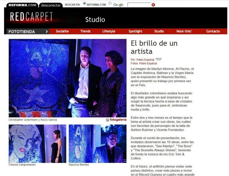 Prensa a Mister Bling, invitados a la exposición #Shine en México