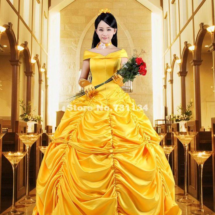 Новый Желтый С Плеча Викторианской Южной Belle Бальные Платья Хэллоуин Для Взрослых Princess Belle Платье Костюм Для Партии