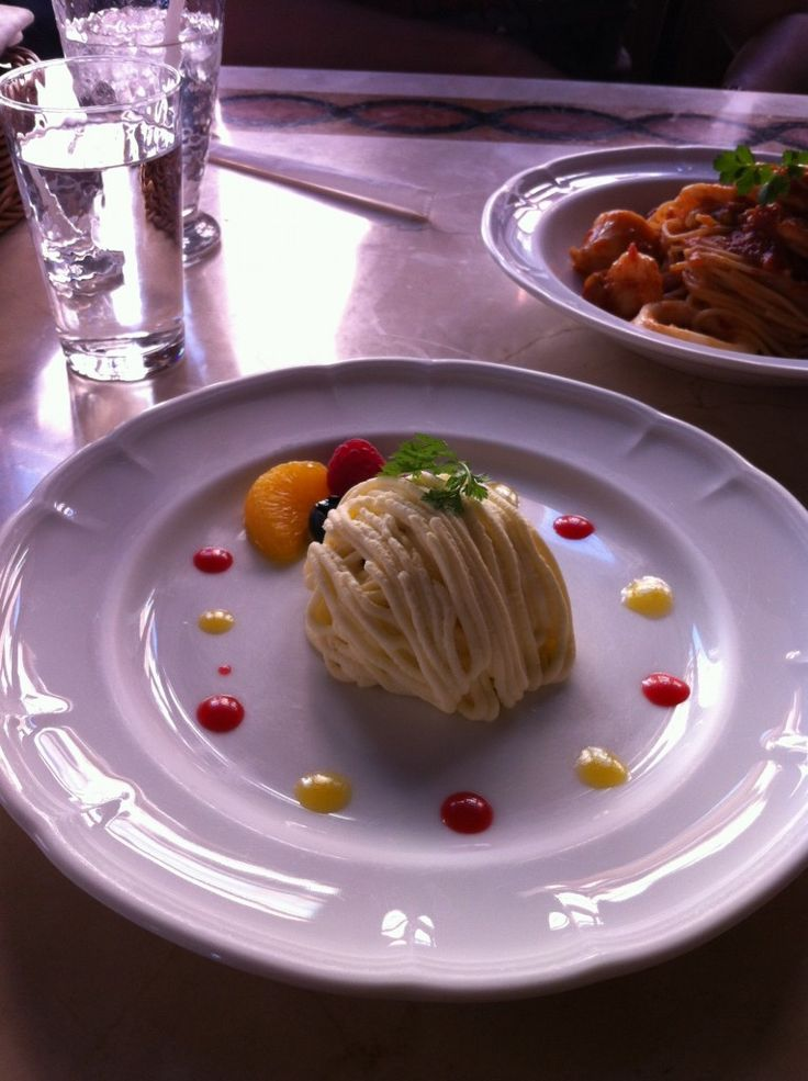Potato salad with couscous, salmon and cream cheese at Ristorante di Canaletto, Tokyo Disneysea.