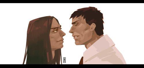 The art for my dear friend) Her OCs) Kirill and Kirill ^^