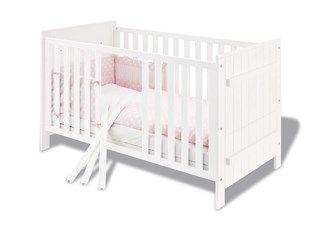 Abbildung für das Produkt Pinolino Kinderbett County 70x140 cm Fichte weiß lasiert