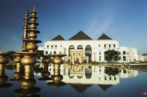 the Great Mosque of Palembang, South Sumatera