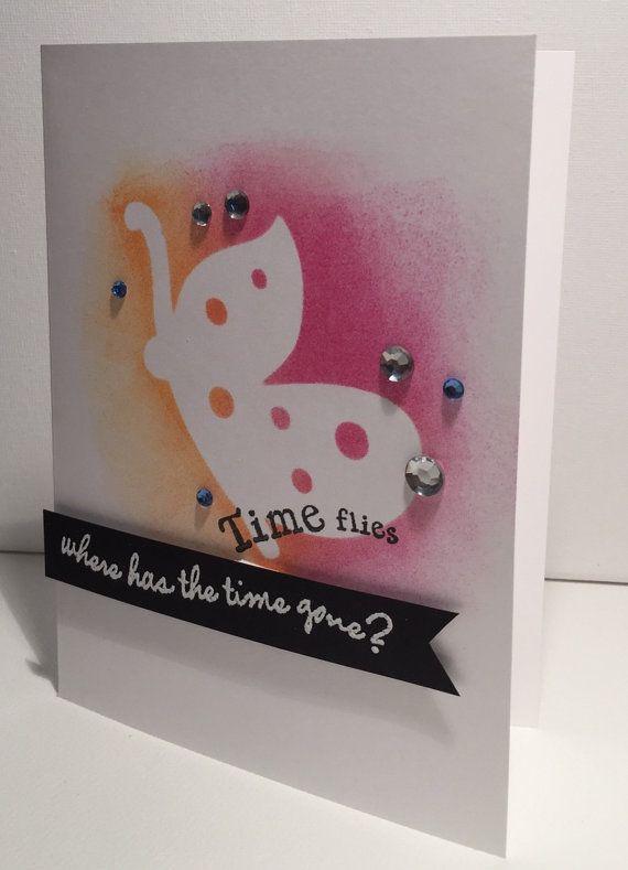 Time Flies Card by TheSbkGuru on Etsy
