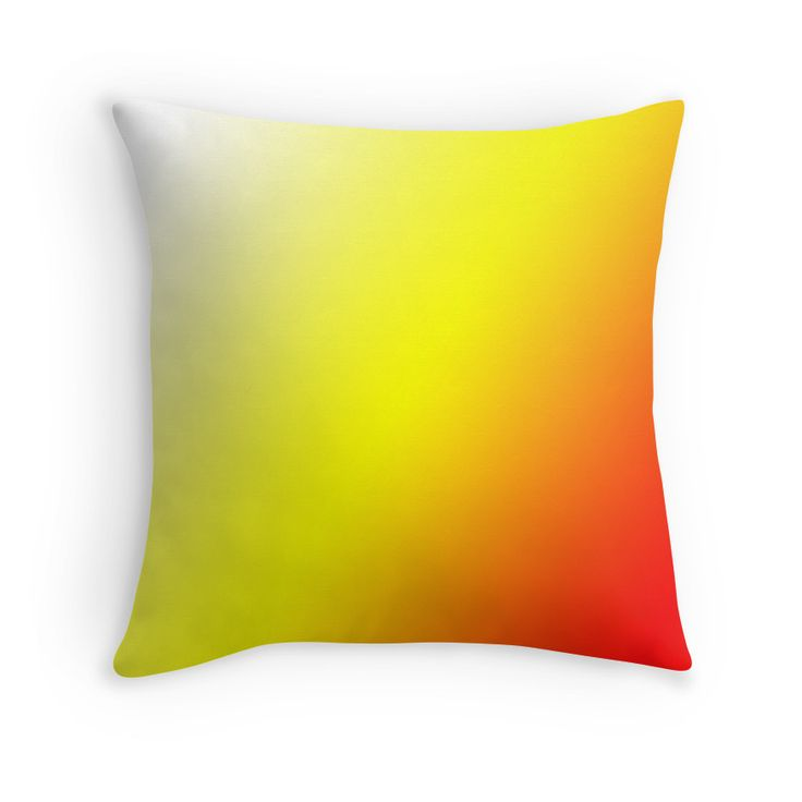 Beautiful Cushions/The Block Collection/TripleThreat Gradient Red Yellow White