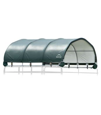 7.5 oz. ripstop fabric cover is heat sealed for maximum water resistance. UV treated inside and out.Universal Cover - fits most corral panels and gate tube profiles (round, square, and oval) - patent pending.Protective boots for each corner to prevent injury to animals.Corral panels and gates not includedThe Corral Shelter livestock shade is a multi-purpose, portable shade and shelter structure and one of our most convenient equine innovations, yet. This portable shade solution has a sturdy…