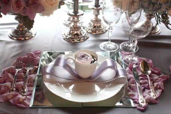 Mirror Square Plate Liner, Arco Weiss China | Chair-man Mills,  Design: Melissa Andre Events