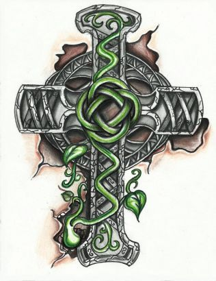 Celtic Cross Tattoos Picture Design.