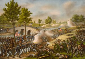 The Battle of Antietam was a milestone in the US Civil War. It pit Confederates under R.E. Lee against Union G. McClellan. It was marked by the fiercest fighting of the war and the single largest number of casualties in US history. Over 23,000 men died on both sides in a single day. The Union should have won but ineptitude of command by McLellan allowed the Confederates to escape but they never again attacked Union soil. It gave A. Lincoln the ability to announce the Emancipation…