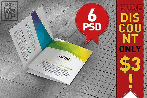 Tri-Fold A5 Brochure Mock-up by akropol on @creativemarket - brochure templates for word free