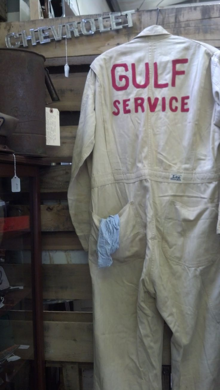 authentic gulf service station uniform from the 1950 u0026 39 s