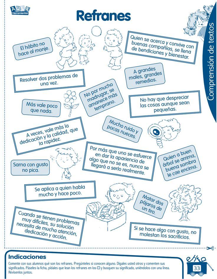 Razonamiento Verbal: Refranes y Adivinanzas para niños