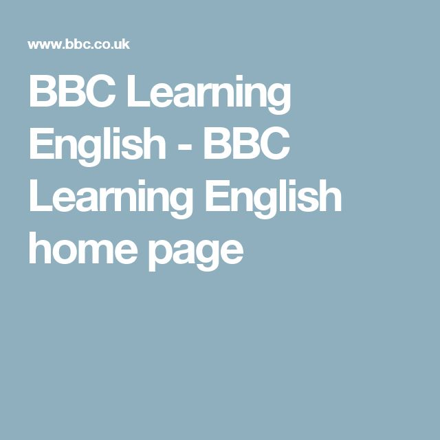 BBC Learning English - BBC Learning English home page