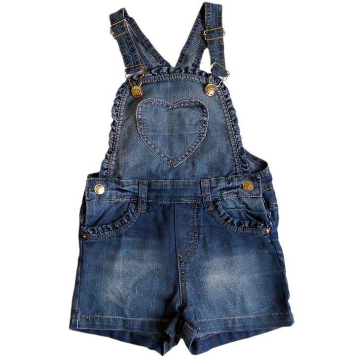 Best 25 jardineira jeans infantil ideas on pinterest for Jardineira jeans infantil c a