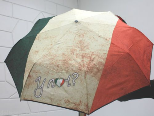 Ombrello antivento Y NOT automatico apri e chiudi stampa Bandiera Italiana http://stores.ebay.it/delissac-2sstore