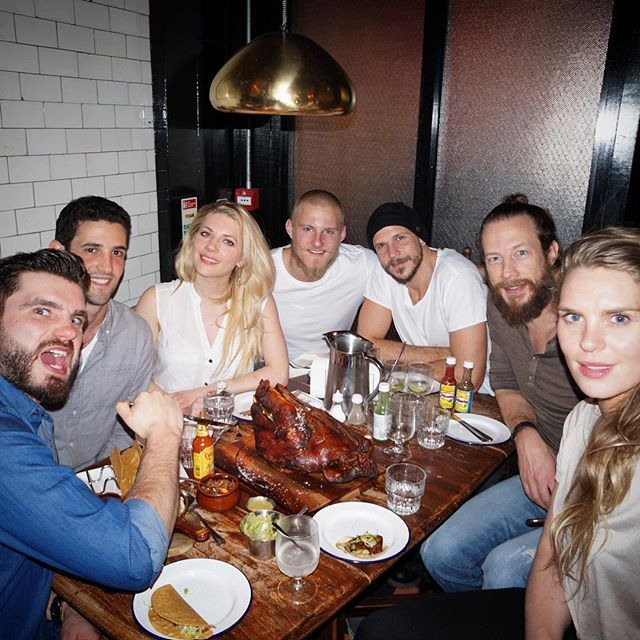 What do the #Vikings cast eat in real life? ...yep, it's a Pig's Head Feast.  #friends #family